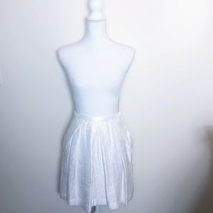 hm • white fit and flare skirt with pockets